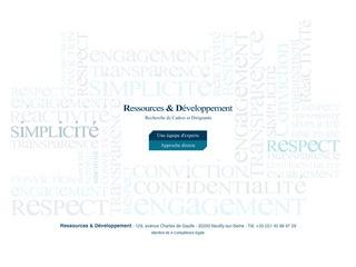 RESSOURCES & DÉVELOPPEMENT