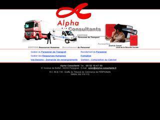 ALPHA CONSULTANTS